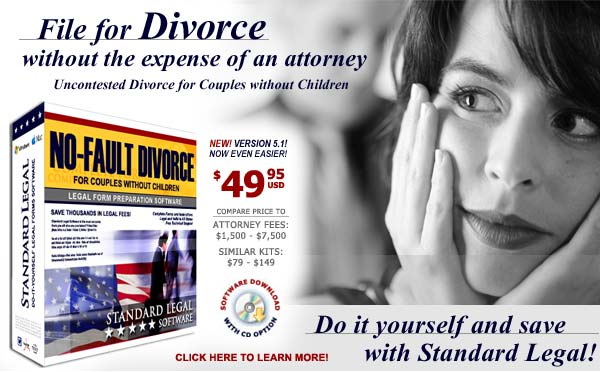 Click here to learn more about do it yourself Divorce software from Standard Legal