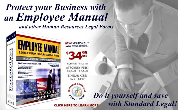 do it yourself Employee Manual software from Standard Legal