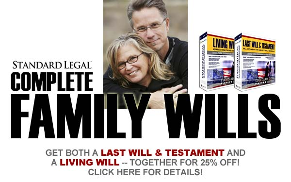 do it yourself Family Wills software from Standard Legal