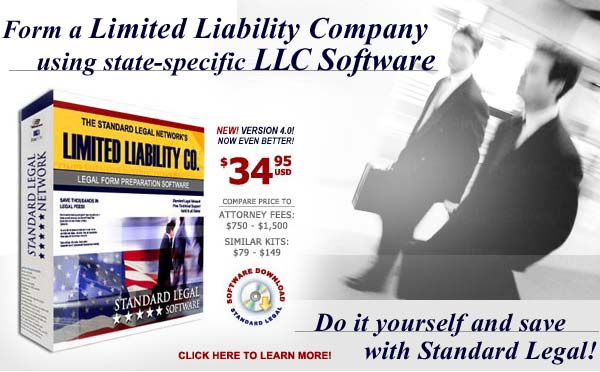 do it yourself LLC software from Standard Legal
