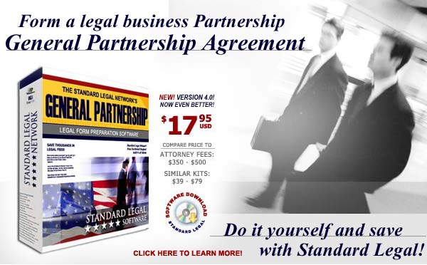 do it yourself Partnership software from Standard Legal