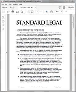 Survivorship Deed software from Standard Legal