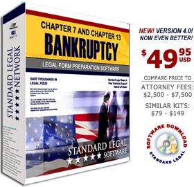 Bankruptcy Legal Forms Software from Standard Legal