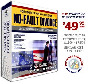 Divorce Without Children Legal Forms Software from Standard Legal