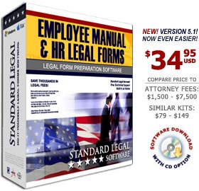 Employee Manual and HR Legal Forms Software from Standard Legal