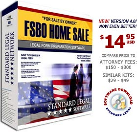 For Sale by Owner Home Sale Legal Forms Software