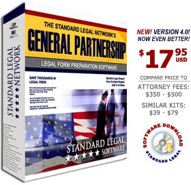 Business Partnership Legal Forms Software from Standard Legal