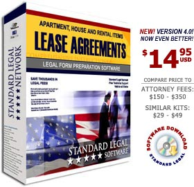 Lease Agreements Legal Forms Software from Standard Legal