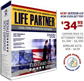 Cohabitation Agreements Legal Forms Software from Standard Legal