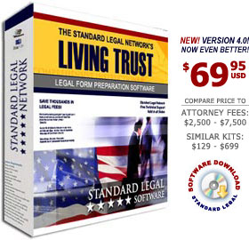 Living Trust Legal Forms Software from Standard Legal