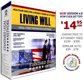 Living Will Legal Forms Software from Standard Legal