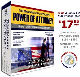 Power of Attorney Legal Forms Software from Standard Legal