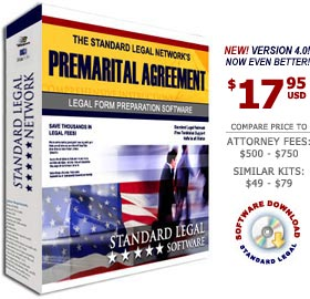Premarital Agreements Legal Forms Software from Standard Legal
