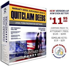 Quitclaim Deed Legal Forms Software from Standard Legal