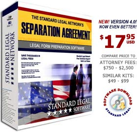 Marital Separation Agreement Legal Form Software from Standard Legal