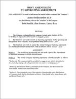 Amendment to LLC Document Sample 1