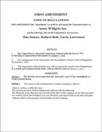 Amendment to Corporation Document Sample 1