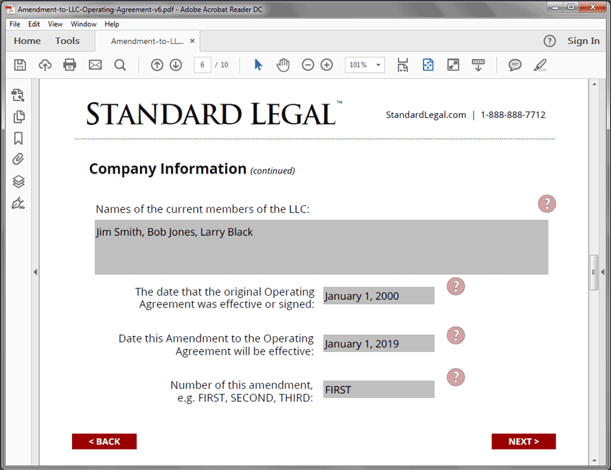 Amendment To Llc Legal Forms Software