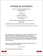 Business Entity Power of Attorney Document Sample 1