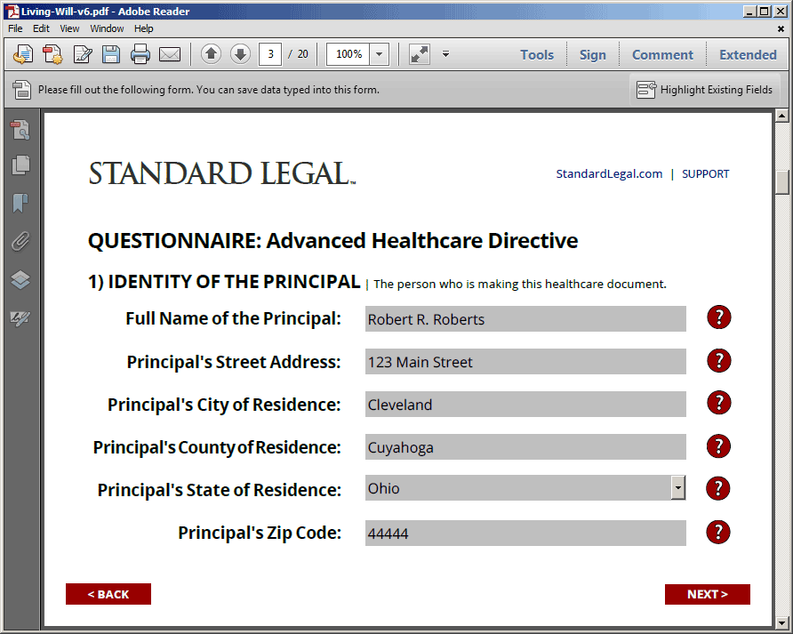 living will healthcare legal forms software standard legal With best legal document software