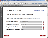 Power of Attorney Questionnaire #2