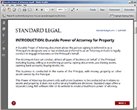 Power of Attorney Questionnaire #1