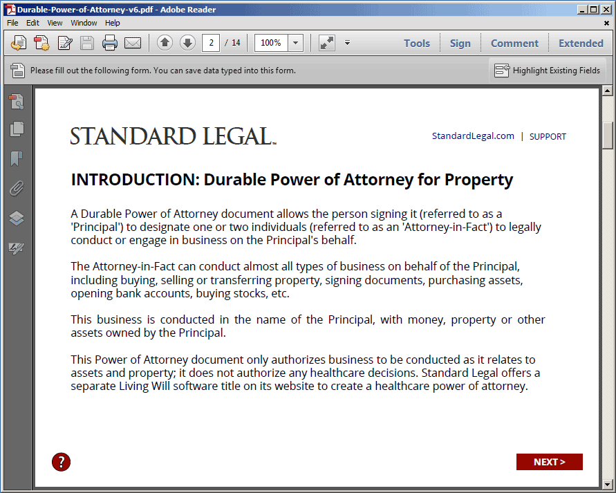 POWER OF ATTORNEY Legal Forms | Standard Legal on power of appointment form, acknowledgment form, contract form, easement form,