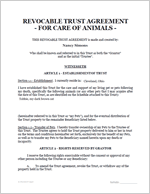 Pet Care Trust Document #1