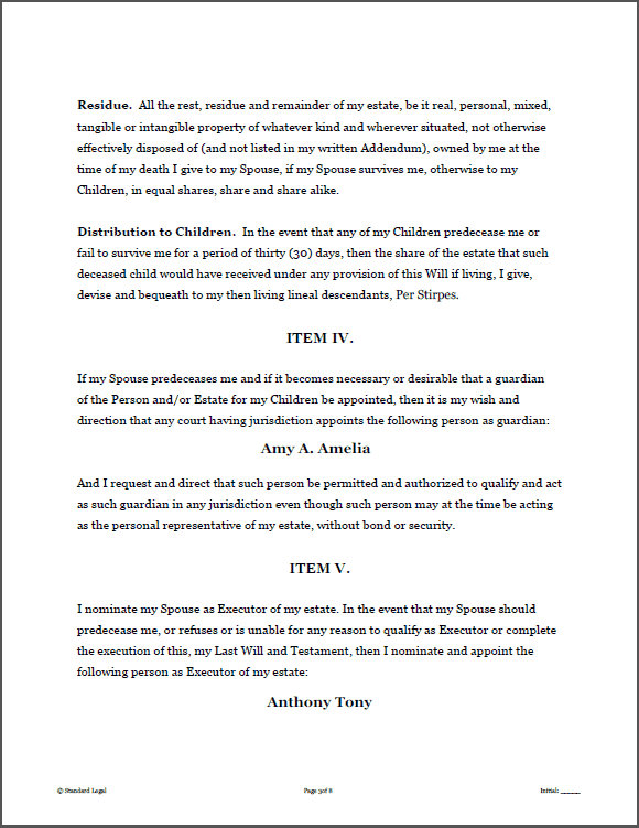 joint will and testament template - will and testament pdf last will and testament template